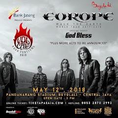Pengalaman Nonton Konser God Bless dan Europe Dalam Satu Panggung di Volcano Rock Festival