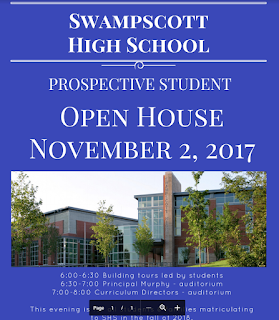 flyer for prospective student for open house Nov 2, 2017