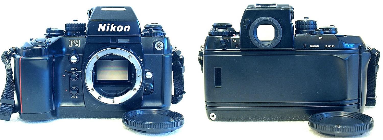Nikon F4 with MB-20 grip (4xAA cells) #299 02