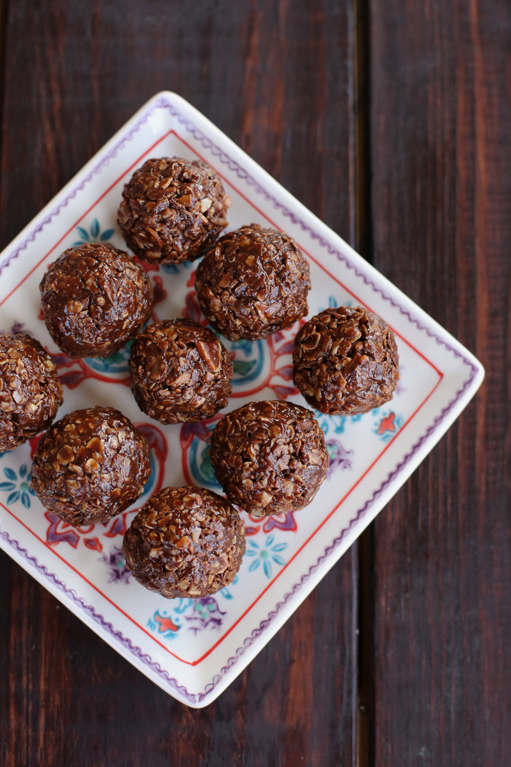 Make a big batch of these chocolate granola bites and store them in the freezer for a quick and hearty after-school snack