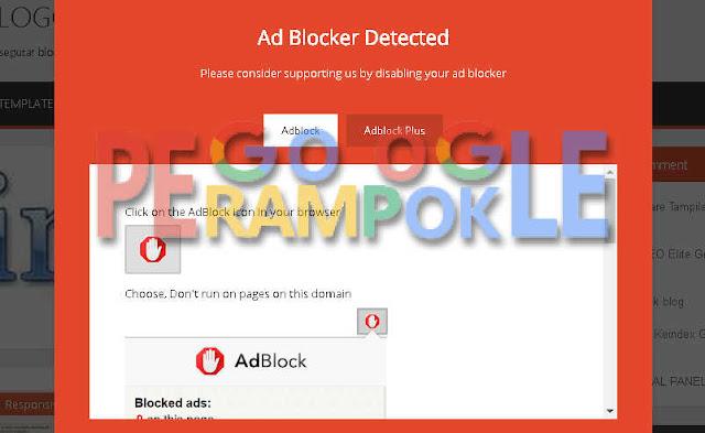 Cara membuat anti adblock blogger seperti Arlina design