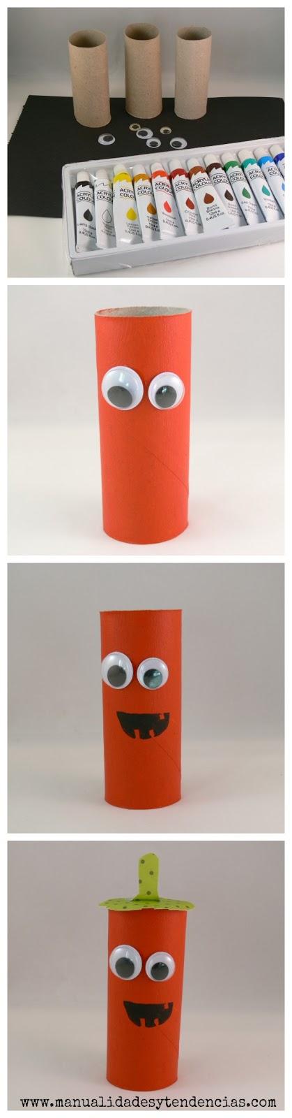 Cómo hacer una calabaza con rollos de papel higiénico