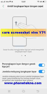 Cara screenshot Vivo V9
