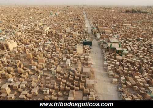 Wadi Al- Salaam,cemiterio,grande,mundo,árabe