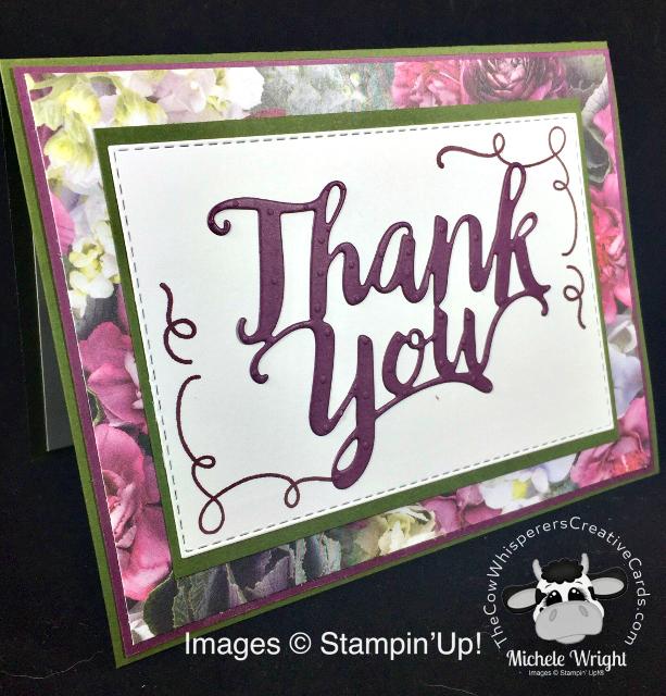 Card, Thank You, Around the Corner, Petal Promenade