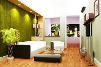 warna cat ruang tamu 2 warna hijau dan putih terbaru