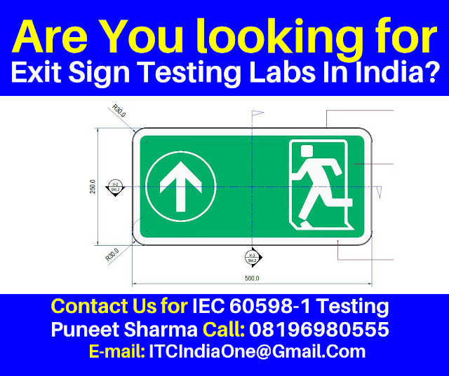 Exit Sign Testing Labs In India
