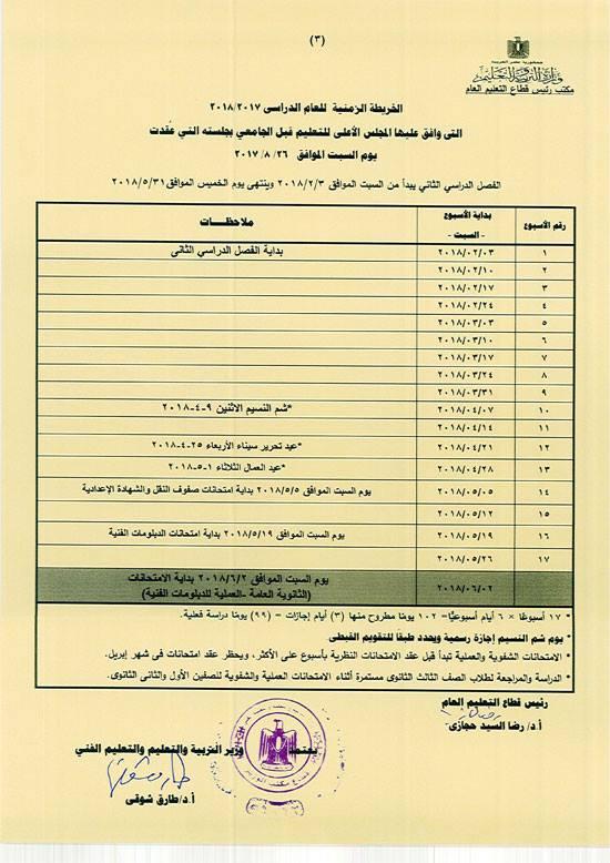 موعد امتحانات الدبلوم والثانوية العامة 2018