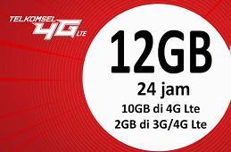 Buat Paket Internet 8GB dan 12GB 4G Bagi Pengguna Kartu Telkomsel Baru