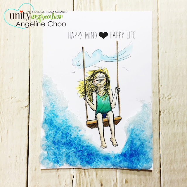 ScrappyScrappy: [NEW VIDEO] Phyllis Harris & Unity Stamp - Happy Mind Happy Life #scrappyscrappy #unitystampco #phyllisharris #card #cardmaking #papercraft #craft #crafting #youtube #quicktipvideo #copicmarkers #golden #glassbeadgel #watercolor #mixedmedia #gelmedium