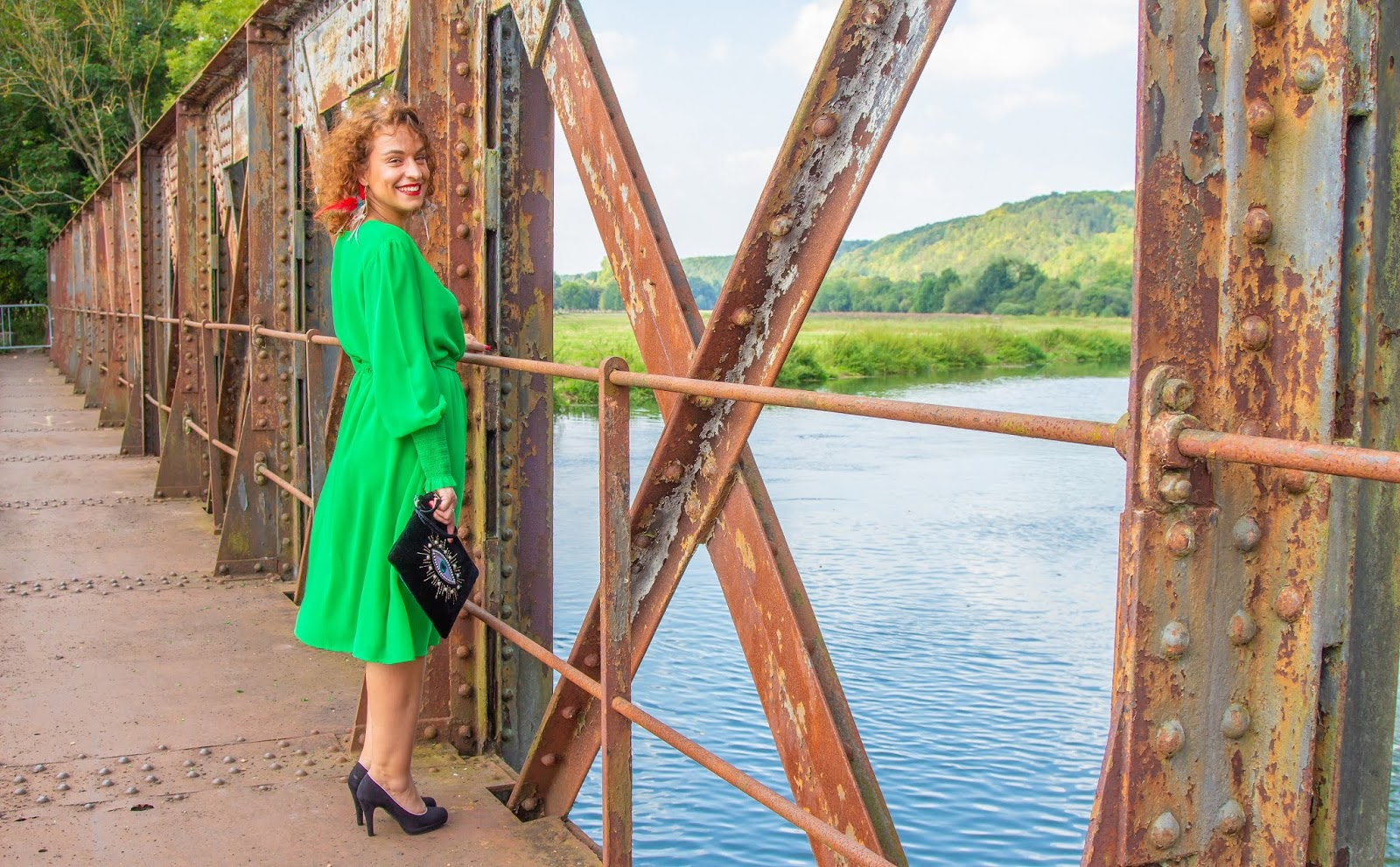 look-robe-de-soiree-vert-pomme