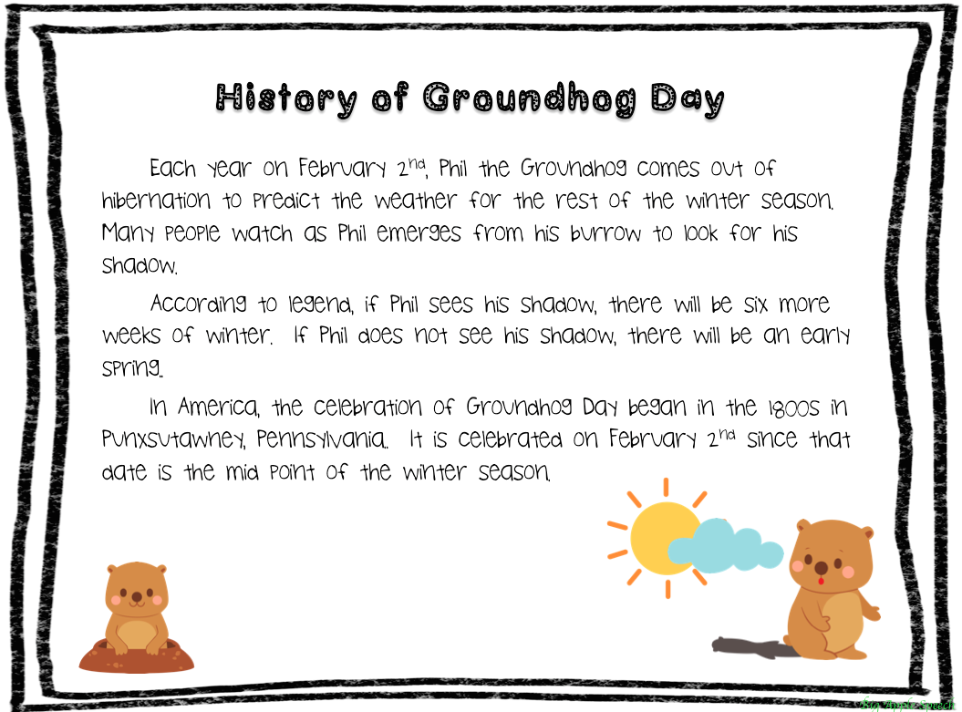 Groundhog Day Math Worksheets