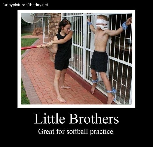 Funny Brother Quotes And Sayings: Funny Quotes About Little Brothers. QuotesGram