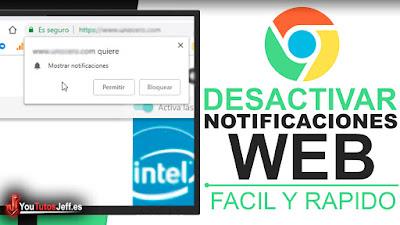 como desactivar mostrar notificaciones web