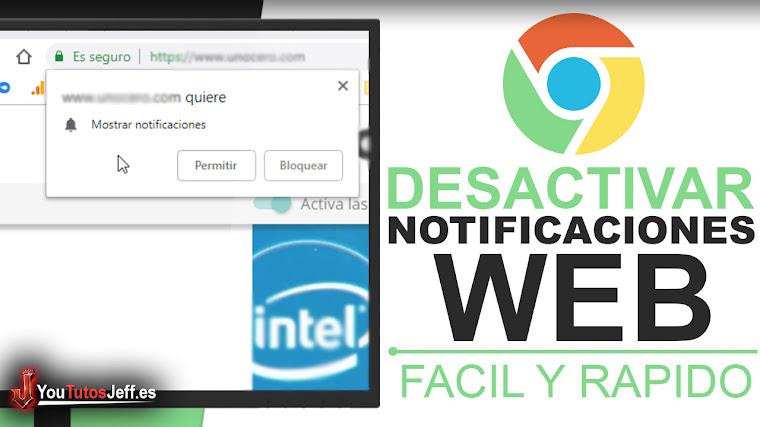 Desactivar Mostrar Notificaciones de Paginas Web en Chrome - Trucos Chrome