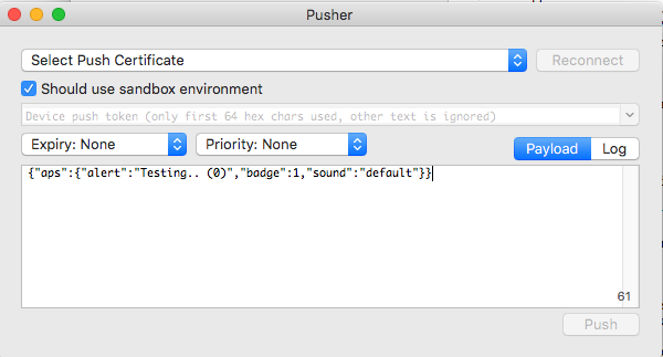 Quickest way to test Apple Push Notification Service APNS