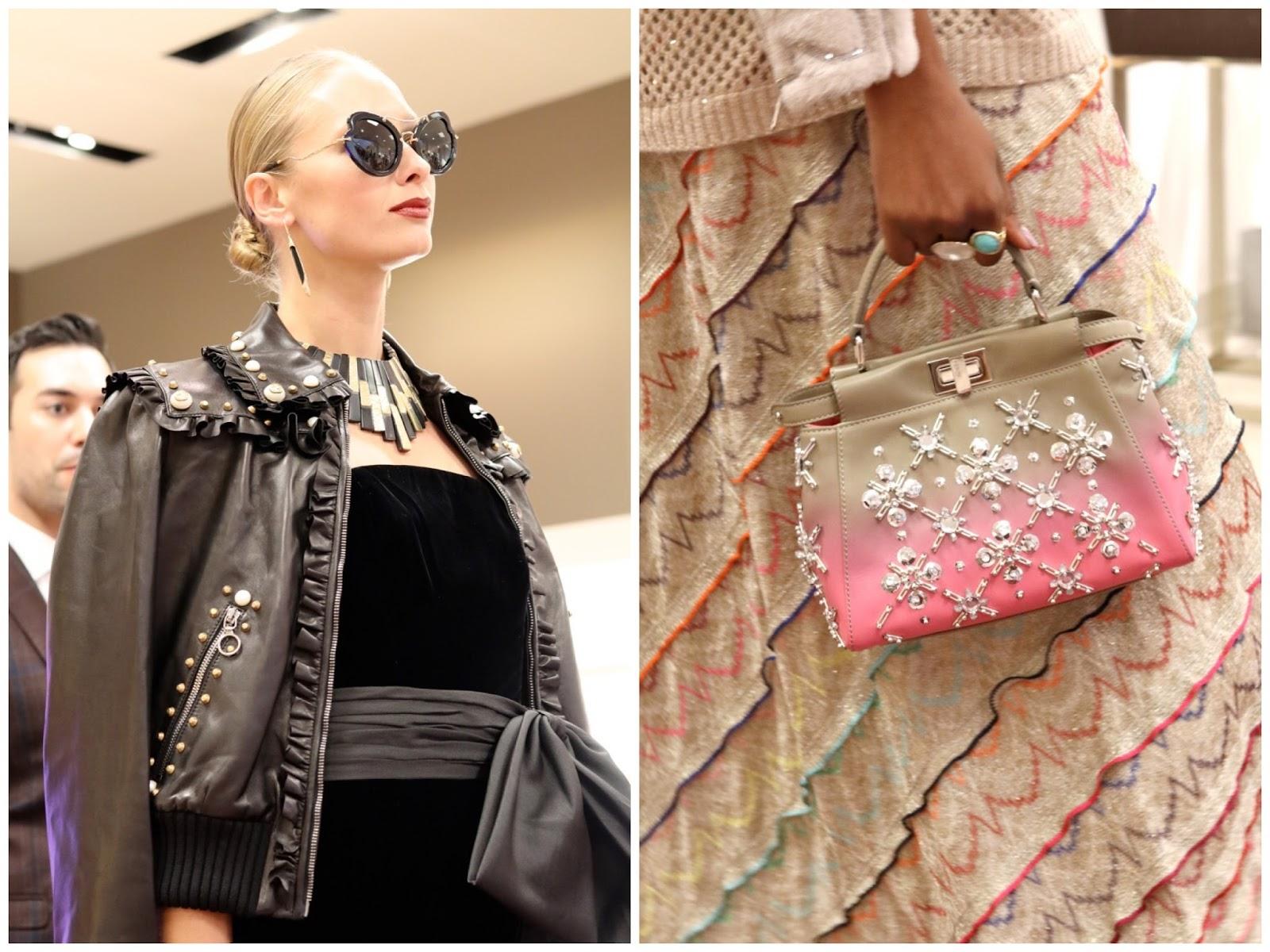 statement sunglasses, gucci leather jeacket, black on black for fall, top handle luxury handbag
