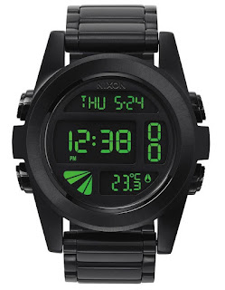 Nixon Unit SS All Black Green A360032