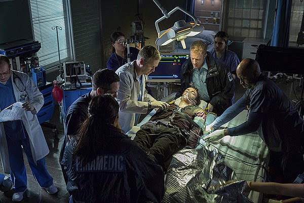 Grant Gustin as Barry Allen in a coma in the hospital in CW The Flash Season 1 Pilot Episode 1 City of Heroes