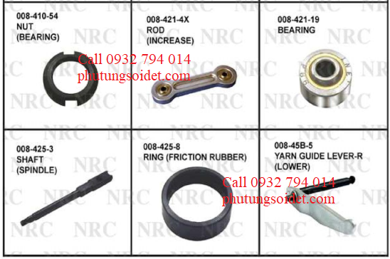 Bearing 008-421-19 Shaft (Spindle) 008-425-3 Ring (Friction Rubber) 008-425-8 Yarn Guide Lever-R 008-45B-5 Yarn Guide Lever-R (Upper) 008-45B-7 Lever (Tenser blowing)(S1) 008-45B-16X