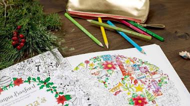 Libro para colorear la Navidad con Johanna Basford