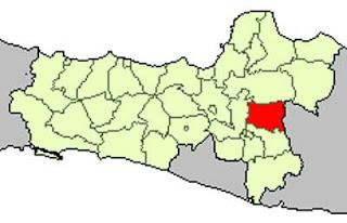 Gambar Peta Lokasi Sragen