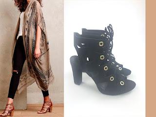 21d37aa2a1 Outra opção de Sandal Boot é essa preta com amarração