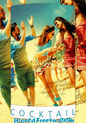 Poster Of Hindi Movie Cocktail (2012) Free Download Full New Hindi Movie Watch Online At worldfree4u.com