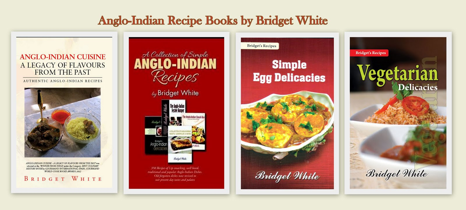Bridget White Anglo-Indian Recipe Books