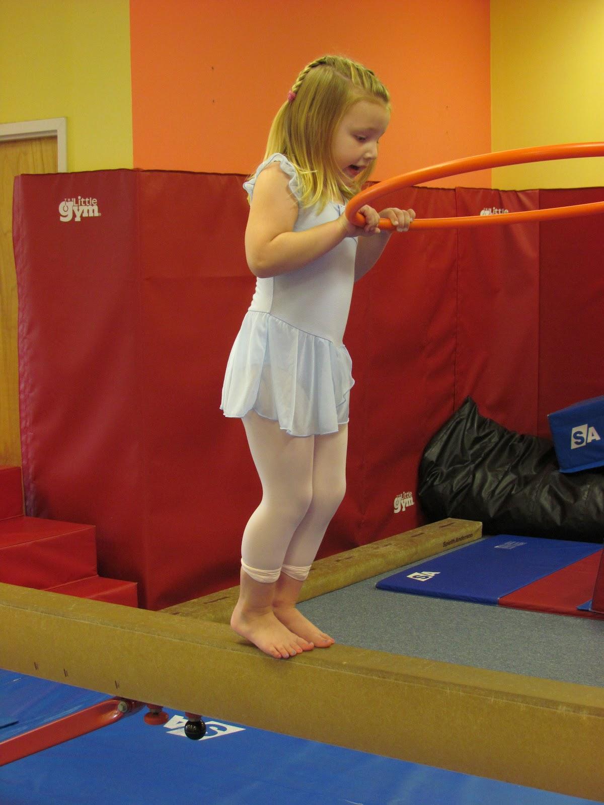 Little Girl Gymnastic Class Little Girl Gymnastic Class