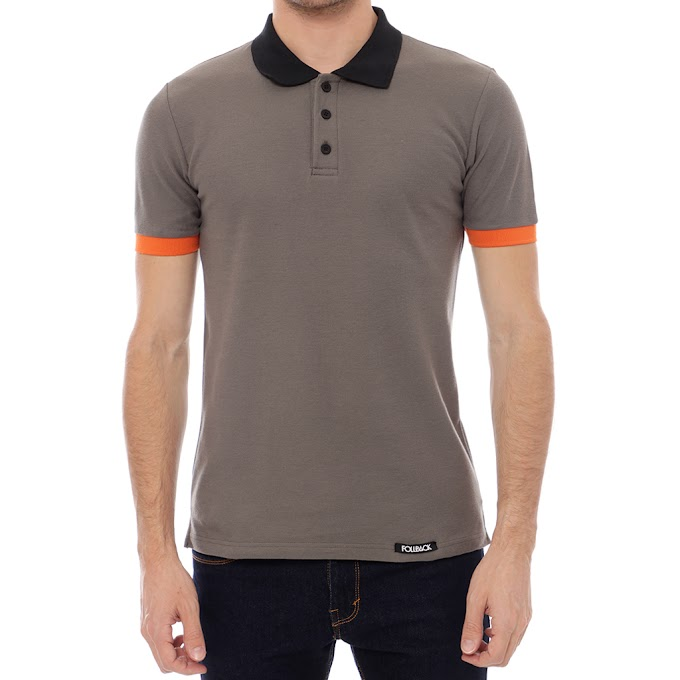Polo Shirt Pria Premium Denver Dark Gray