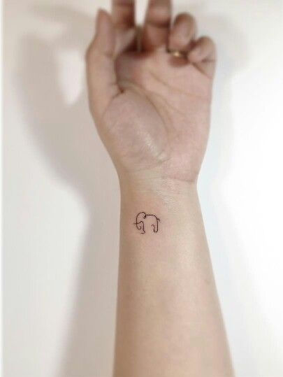 Small Wrist Elephant Tattoo Designs