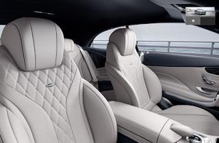 Nội thất Mercedes S500 Cabriolet 2018 màu Vàng Porcelain/Xanh Deep Sea 975