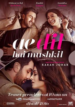 Download Ae Dil Hai Mushkil(2016) Ranbir Kapoor Full Movie HD Blu Ray