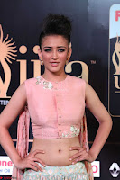 Akshara Haasan in Peachy Crop Top Choli Skirt at IIFA Utsavam Awards 22.JPG