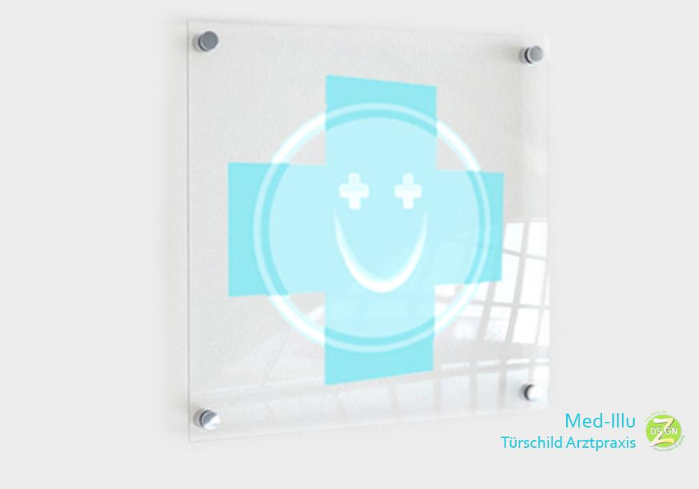 türschild-für-arztpraxis-mit-lächeln