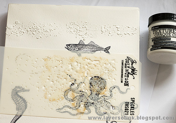 Layers of ink - Textured Watercolor Canvas Tutorial by Anna-Karin with Crackle Paste