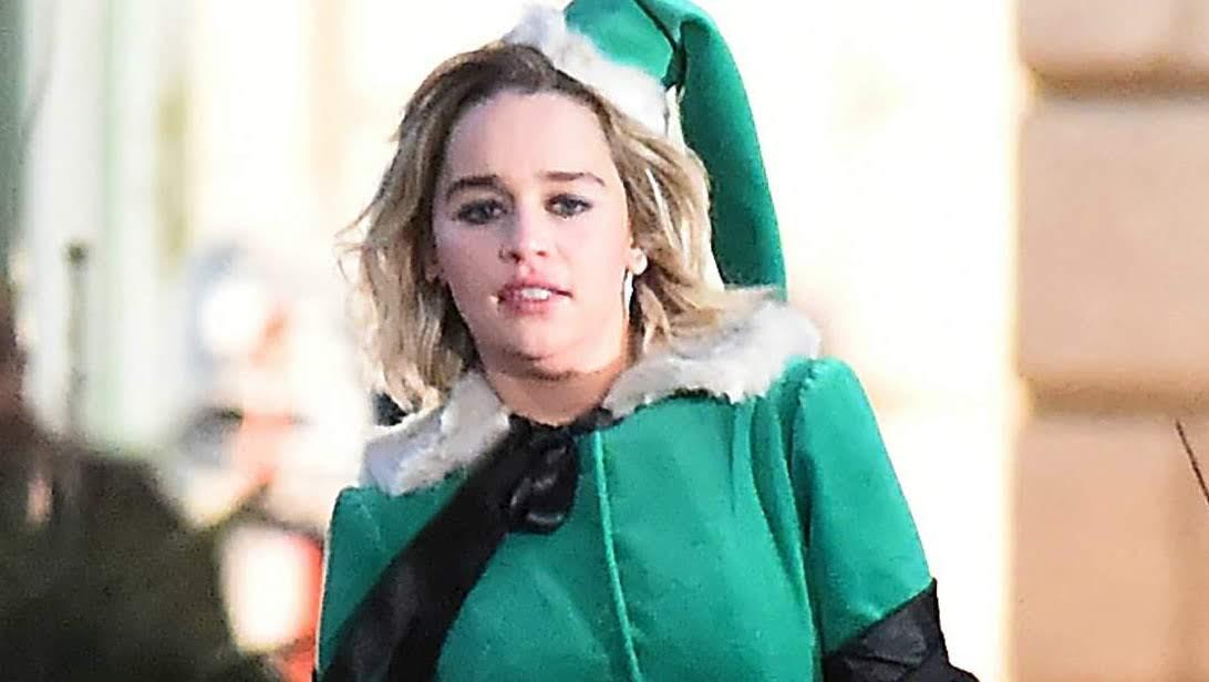 Emilia Clarke filming the romantic comedy Last Christmas in London : ワムの大ヒット曲をフィーチャーしたロマコメのクリスマス映画「ラスト・クリスマス」を撮影中のエルフのエミリア・クラーク ! !