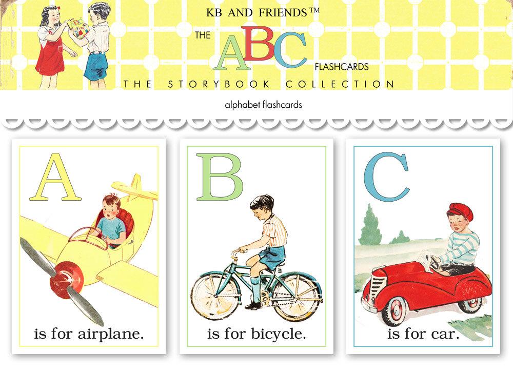 A B C Flash Cards