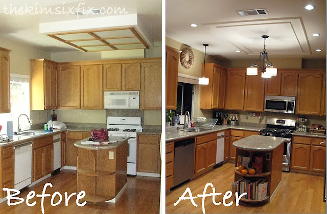 Replacing Recessed Fluorescent Light Box In Kitchen