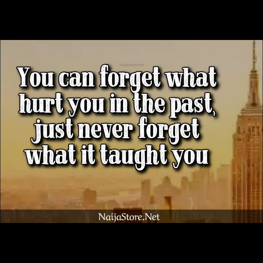 Life Quotes: You can forget what hurt you in the past, just never forget what it taught you - Motivation