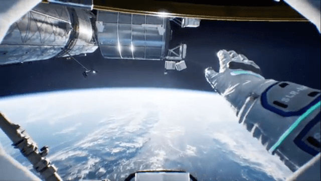 Spacewalk on virtual reality game