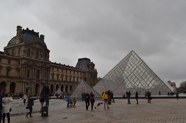 Glass pyramids at the Louvre, Paris