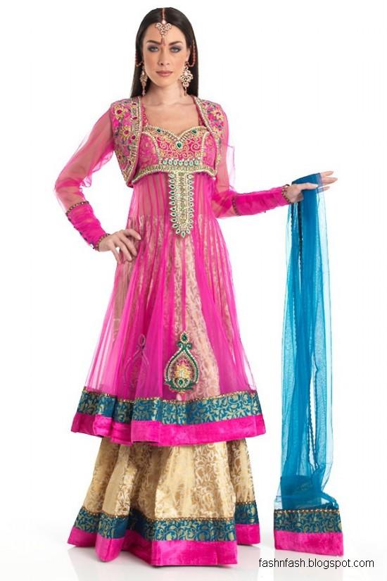 Fashion & Fok: Anarkali Umbrella Frocks in Double Shirt Style-Double ...