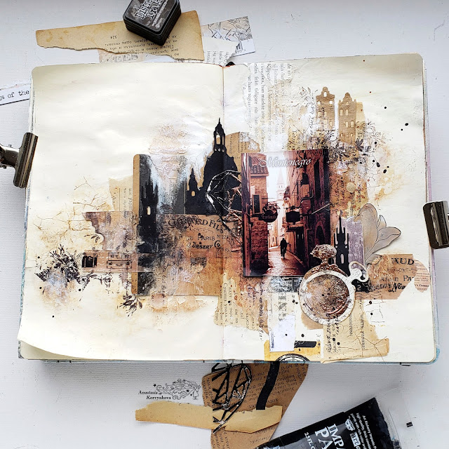 @nastyalena #scrapbooking #artjournal #mixedmedia