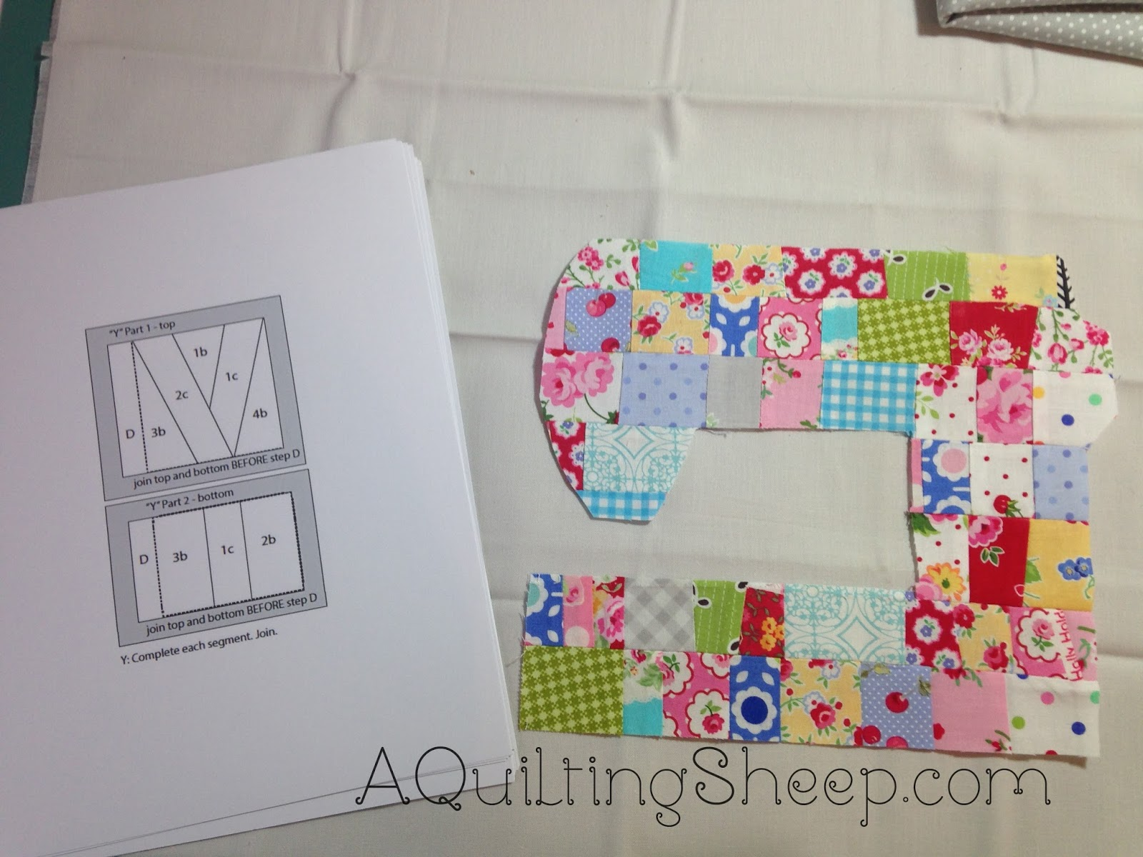 A Quilting Sheep  Paper Piecing Mood