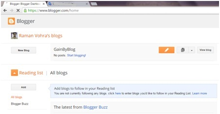Blogger dashboard2
