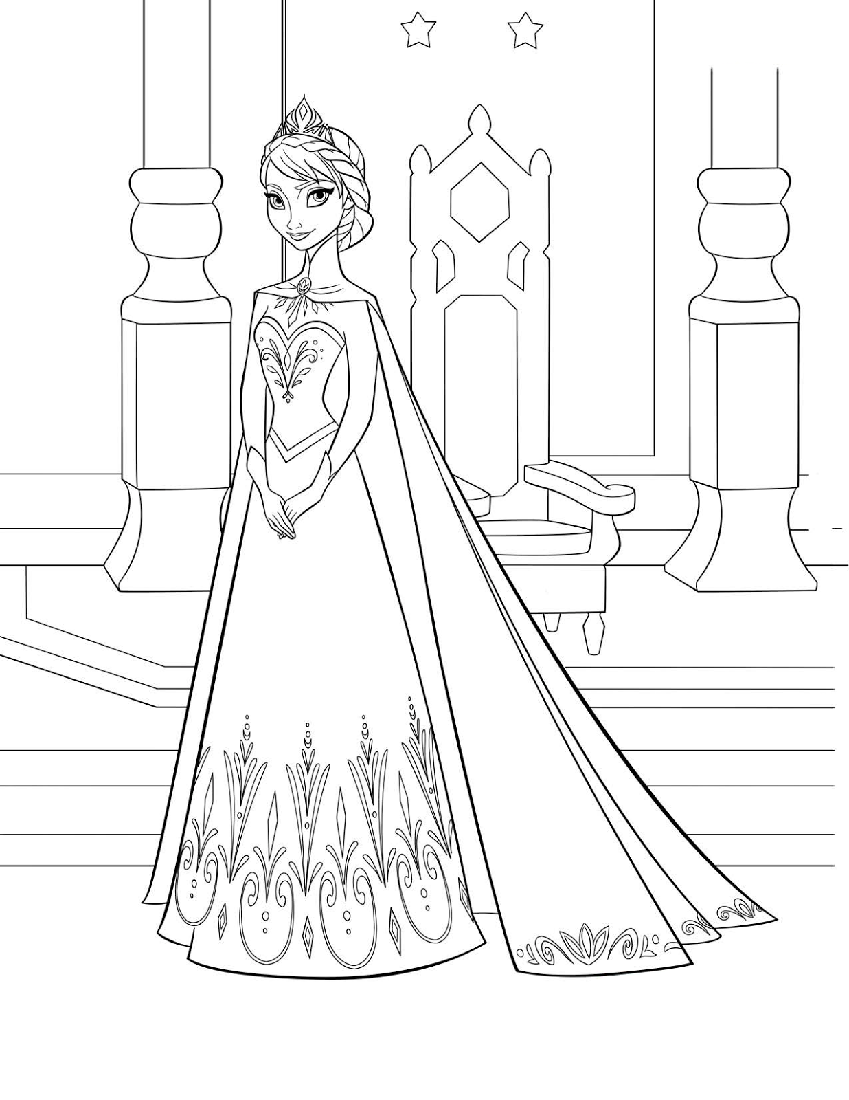 Coloring Pages: Disneys FROZEN coloring pages