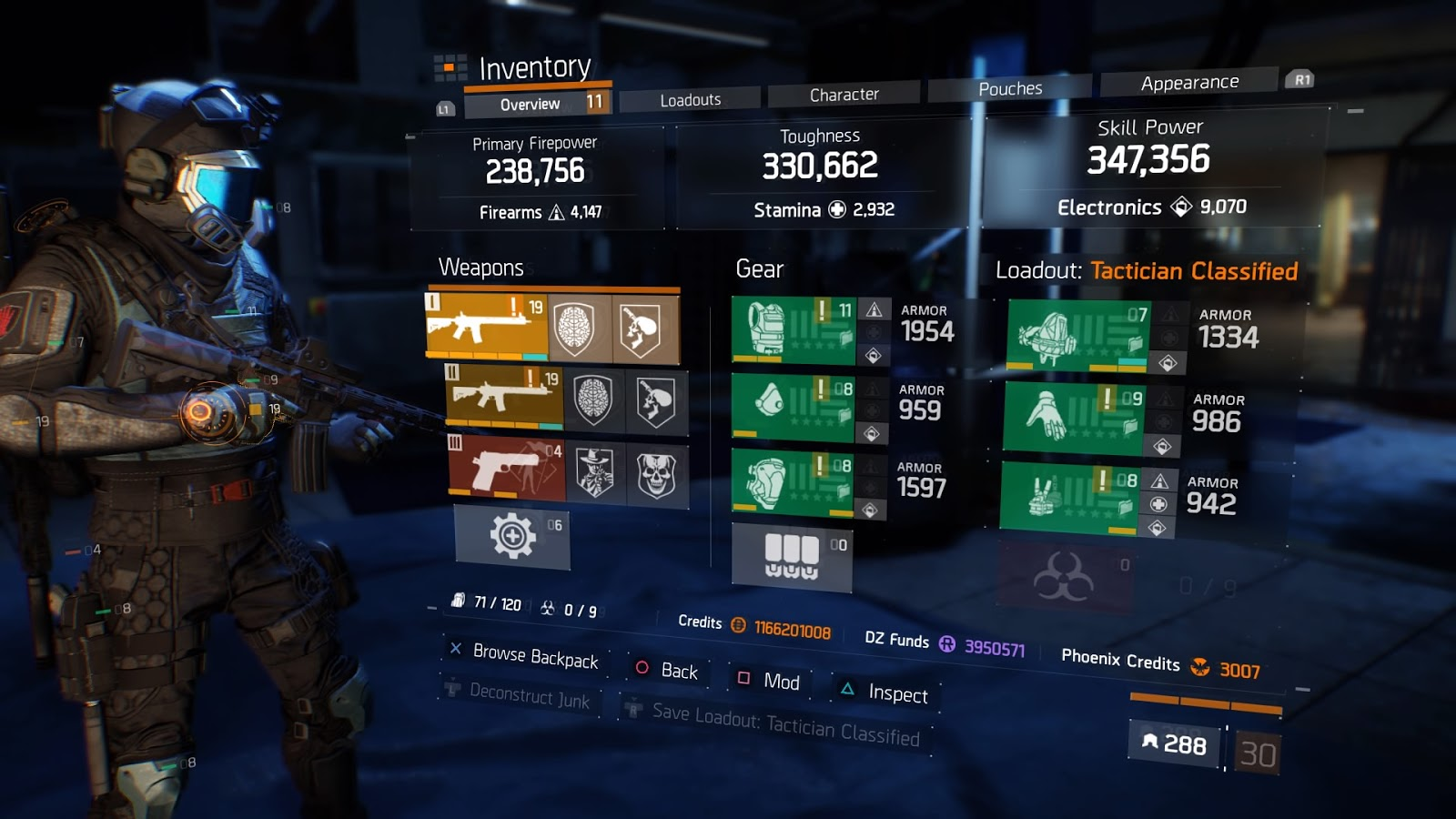 The Division 1 8 1 Tactician Classified Build
