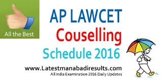 AP LAWCET Counselling Dates 2016, AP LAWCET 1st Phase Counselling Information, AP LAWCET PGLCET Counselling Schedule 2016, AP LAWCET Certificate Verification Rank Wise, AP LAWCET 2016 Seat Allotment